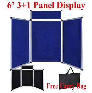 6 3 1 Blue bk Panel Header Trade Show Display Presentation Tabletop 6ft Board