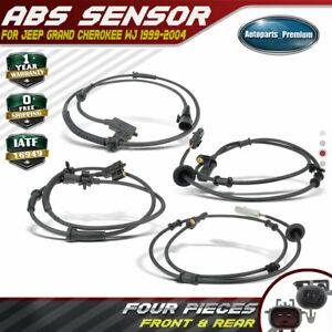 4pcs Abs Speed Sensors For Jeep Grand Cherokee 1999 2004 Front Rear Left Right