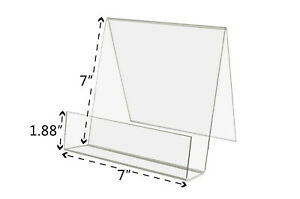 7 w X 6 3 4 h Clear Acrylic Desktop Easel With Front Pocket lot Of 6