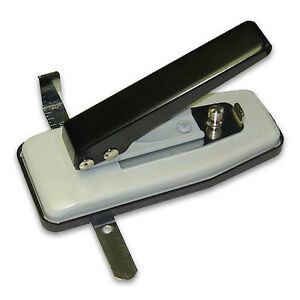 New Deluxe Stapler Style Adjustable Id Card Slot Punch Csp g