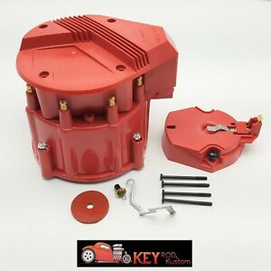 Chevy Gm Red Hei Large Distributor Cap Rotor Kit Sbc Bbc 305 327 350 396 454