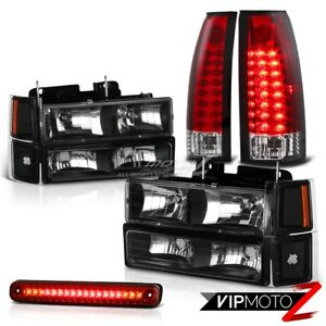 94 98 Chevy Ck Silverado 1500 2500 Red Led Taillights 3rd Brake Cargo Headlamps