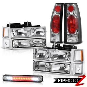 1994 1998 Chevrolet Silverado Ck Factory Style Headlights Led 3rd Tail Lights