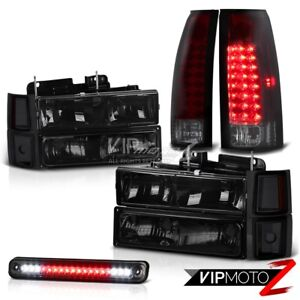 Chevrolet Silverado C10 Smoke Red Led Tail Light Third Brake Headlights Headlamp