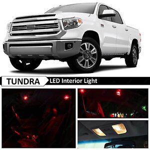 18x Red Interior Led Lights Package Kit For 2007 2016 Toyota Tundra