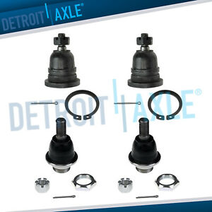 New 4pc Front Upper Lower Ball Joints For Nissan Frontier Xterra