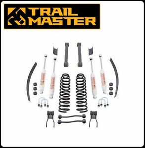 Trail Master 4 5 Inch Lift Kit W Control Arms Add a leaf For 84 01 Cherokee Xj