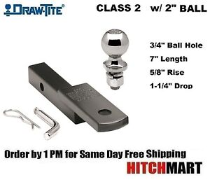 Class 2 Trailer Hitch Mount Pin Clip With 2 Ball 1 1 4 Receiver 36051 820