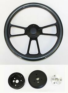 Mercury Cougar Comet Cyclone Steering Wheel Carbon Fiber On Black 14