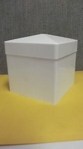 5x5 Pvc Fence Post Flat Pyramid Horse Caps Tops Vinyl White 5 X 5 Case Of 136 Pc
