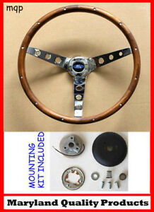 70 77 Bronco F100 F150 F250 F350 Grant 15 Wood Steering Wheel Hardwood W Kit