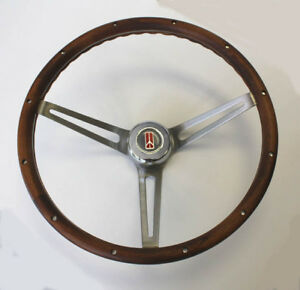 Oldsmobile Cutlass 442 88 Walnut Wood Steering Wheel 15 Stainless Steel Spokes