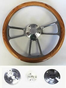 1970 S Dodge Dart Charger Demon Oak Wood And Billet Steering Wheel 14