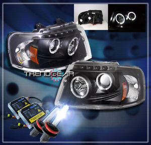 2003 2006 Ford Expedition Halo Projector Headlight Hid Kit Black 2004 2005 Truck