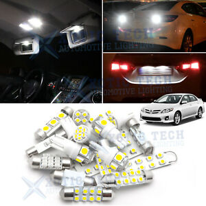 Exact Fit White 18 Led License Number Plate Light Lamps For Ford Focus Flex