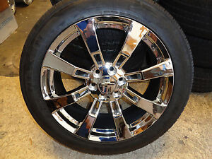 22 Chrome Cadillac Wheels Rims Tires Tahoe Sierra Chevy Silverado Ck375