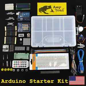 Arduino Development Starter Kit ttl Breadboard Resistor Led Funduino Motor Uno