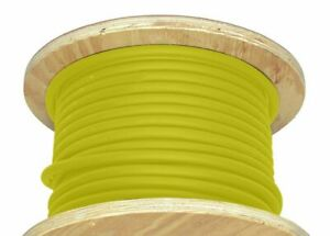 50 1 0 Awg Welding Cable Yellow Flexible Outdoor Wire