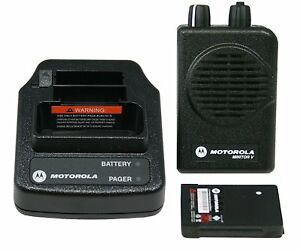 New Motorola Minitor V 5 Pager Vhf 151 159 Mhz 2ch Stored Voice Fire Ems