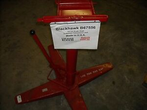 B67556 Blackhawk 1 2 Ton Single Stage Trans Jack Completely Reconditioned