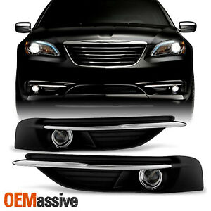 Fit 2011 2014 Chrysler 200 Bumper Fog Lights Lamps W Switch Wiring Bulbs Cover