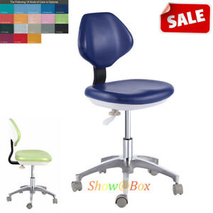 Pu Leather Adjustable Dental Stool Dentist Chair Doctor Hydraulic Rolling Stools