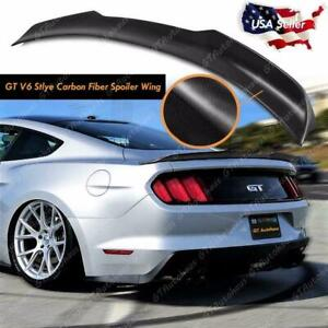 For 2015 2019 Ford Mustang Trunk Lid Spoiler Wing Gt Style Real Carbon Fiber