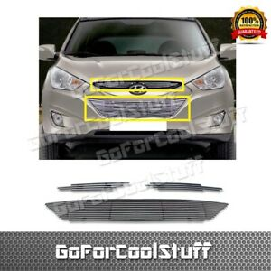 For Hyundai 2010 2011 2012 Tucson Upper Bolton Billet Grille Polished Insert