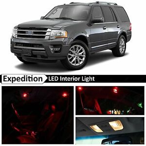 16x Red Interior Led Lights Package Kit For 2015 2016 Ford Expedition