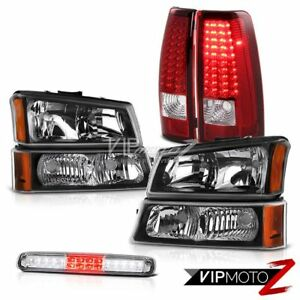 03 06 Chevy Silverado 2500hd Black Headlights Roof Cab Lamp Red Tail Brake Lamps
