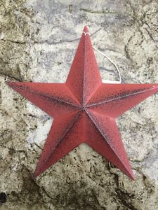 One 1 Burgundy Black Barn Star 8 Primitive Rustic Country Distressed