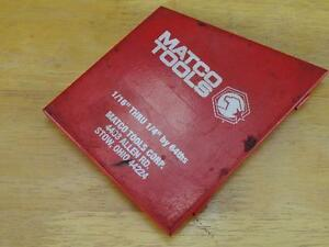Used Matco Tools 1 16 Thru 1 4 Drill Bit Case Box Case Only