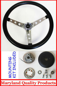 69 94 Camaro Grant Black Steering Wheel Camaro Center Cap 15 Round Holes