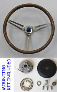 New 1966 Dodge Charger Coronet Grant Wood Steering Wheel 15 Real Wood Walnut