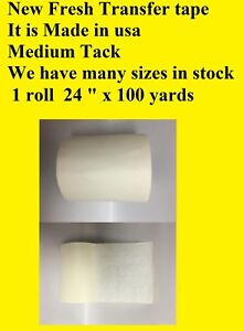 1 Roll 24 X 100 Yards Application Transfer Tape Vinyl Signs Adhesive Made Inusa