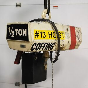 Coffing Ec 1032 3 1 2 Ton Hoist 20 Ft Chain Lift 230 460 Volts 3 phase Used