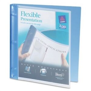 Flexible Round Ring Binder 1 2 Capacity Blue