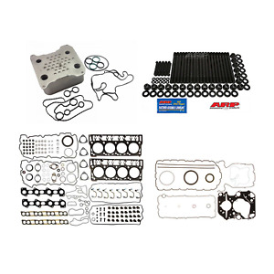 Complete Rebuild Kit Arp Studs Oil Cooler For 2008 2010 Ford 6 4l Powerstroke