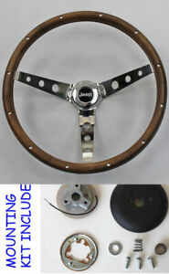 Jeep Wrangler Yj Cj7 Cj5 Cherokee Wagoneer Grant Wood Steering Wheel Walnut 15