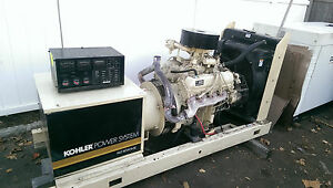 Kohler 60 Kw Ford 312 Hours 1 Or 3 Phase 60rz272 Natural Gas Generator