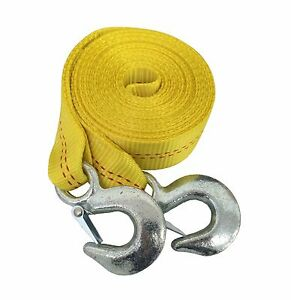2 X 20 Ft Tow Strap With Hooks Heavy Duty Towing Hitch Auto Truck Tie Down To