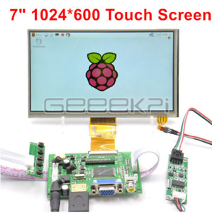 Geeekpi 7 Lcd 1024 600 For Raspberry Pi Hdmi vga 2av Driver Board touch Screen