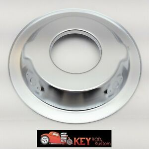 14 Chrome Steel Air Cleaner Recessed Base Chevy Ford Sbc Bbc Holley Edelbrock