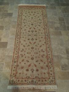 Handmade 2 6 X 7 Vegetable Dyed Voguish Rug Chobi Runner Pale Beige Art Work