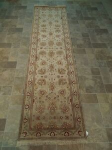 Vegetable Dyed Runner Gorgeous Hand Knotted Rug 3 X 10 Chobi Hallway Carpet