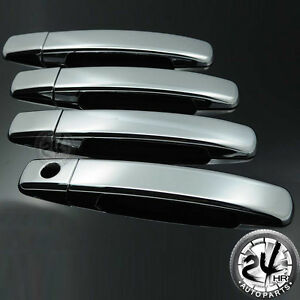 Triple Chrome Plated Door Handle Cover Trim For 05 12 Nissan Frontier