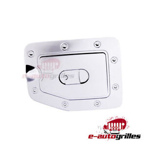 For 98 04 Nissan Frontier Fuel Gas Cap Door Cover Triple Chrome Plated Abs