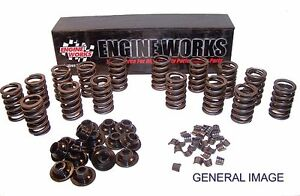 Engine Works Srk920 Single Valve Springs Retainers Locks 1 26 7 Sbc