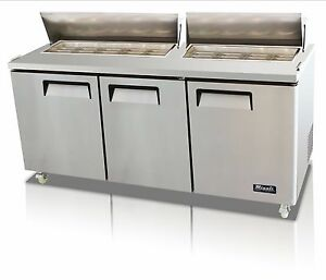 Migali C sp72 18 Three Door Sandwich Salad Prep Table