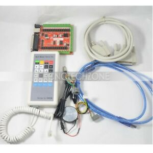 Cnc 6 Axis Usb Lpt Mach3 Breakout Board Kit W Manual Control Box For Step Motor